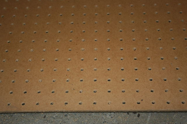 PEGBOARD : Natural Brown 2440x1220x3.0mm - Perforations at 19mm hole centres