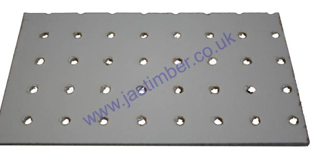 White Primed One-Side Pegboard : 2440x1220x3.0mm - Perforations at 19mm hole centres