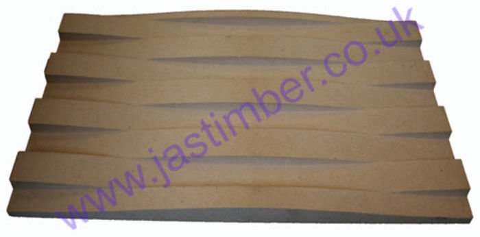 Cestino Patterned Routered MDF WaveBoard - width