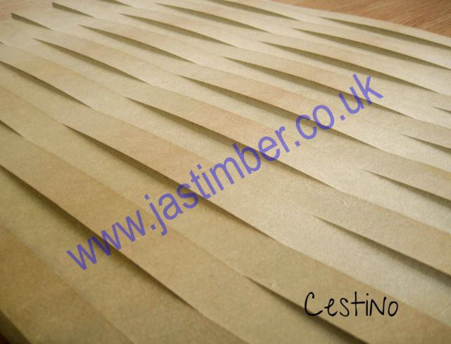 MDF - Cestino - Routered Pattern 18mm Medium Density Fibreboard 8x4