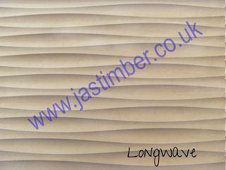 Photography of MDF - LONG WAVE - Routered Pattern Waveboard - 18mm Medium Density Fibreboard 8x4