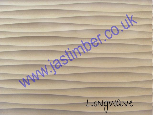 MDF - Long Wave - Routered Pattern Waveboard - 18mm Medium Density Fibreboard 8x4