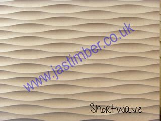 Photography of MDF - SHORT WAVE - Routered Pattern 18mm Medium Density Fibreboard 8x4