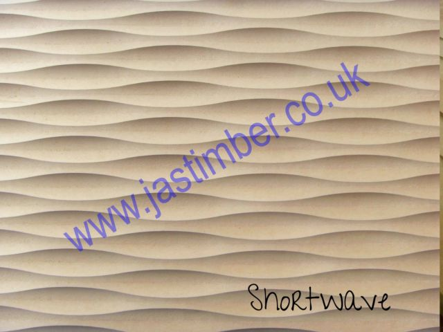 MDF - SHORT WAVE - Routered Pattern 18mm Medium Density Fibreboard 8x4