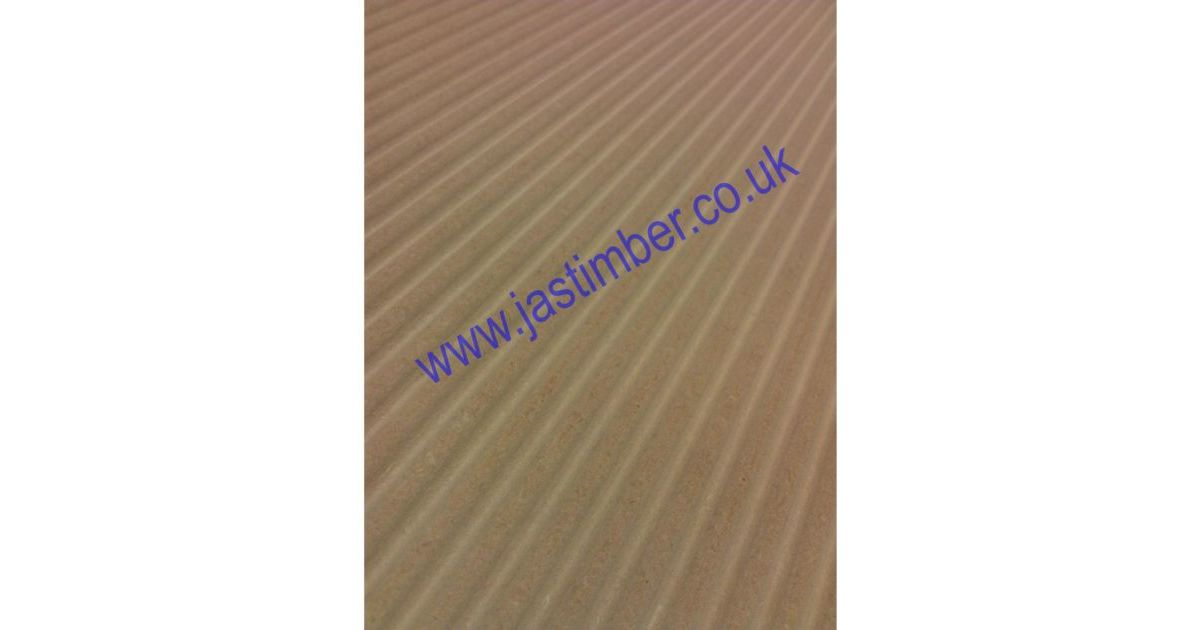 Mdf waveboard in the groove