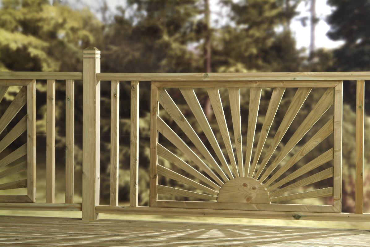 Treated Decking Balustrade Sunburst Panel Desun