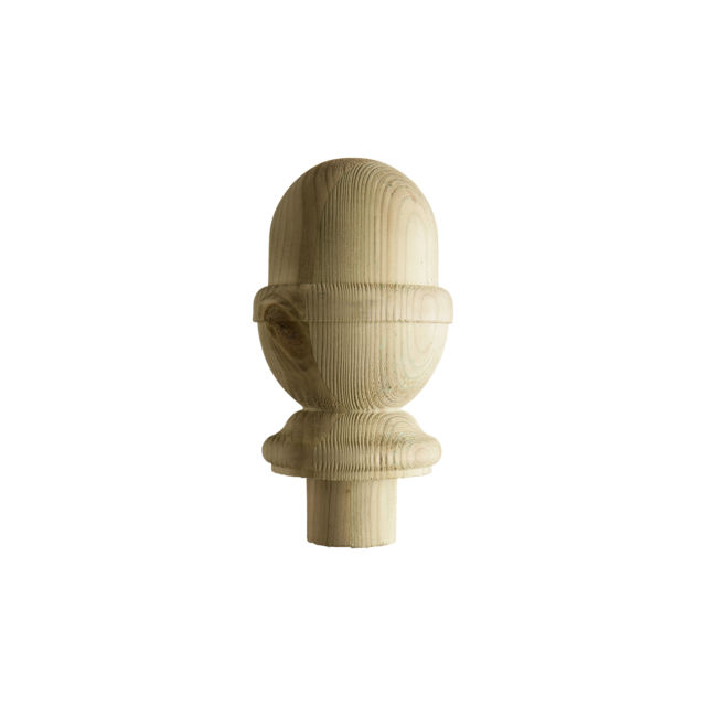 Treated Acorn Newel Cap - DEAC - Cheshire Mouldings