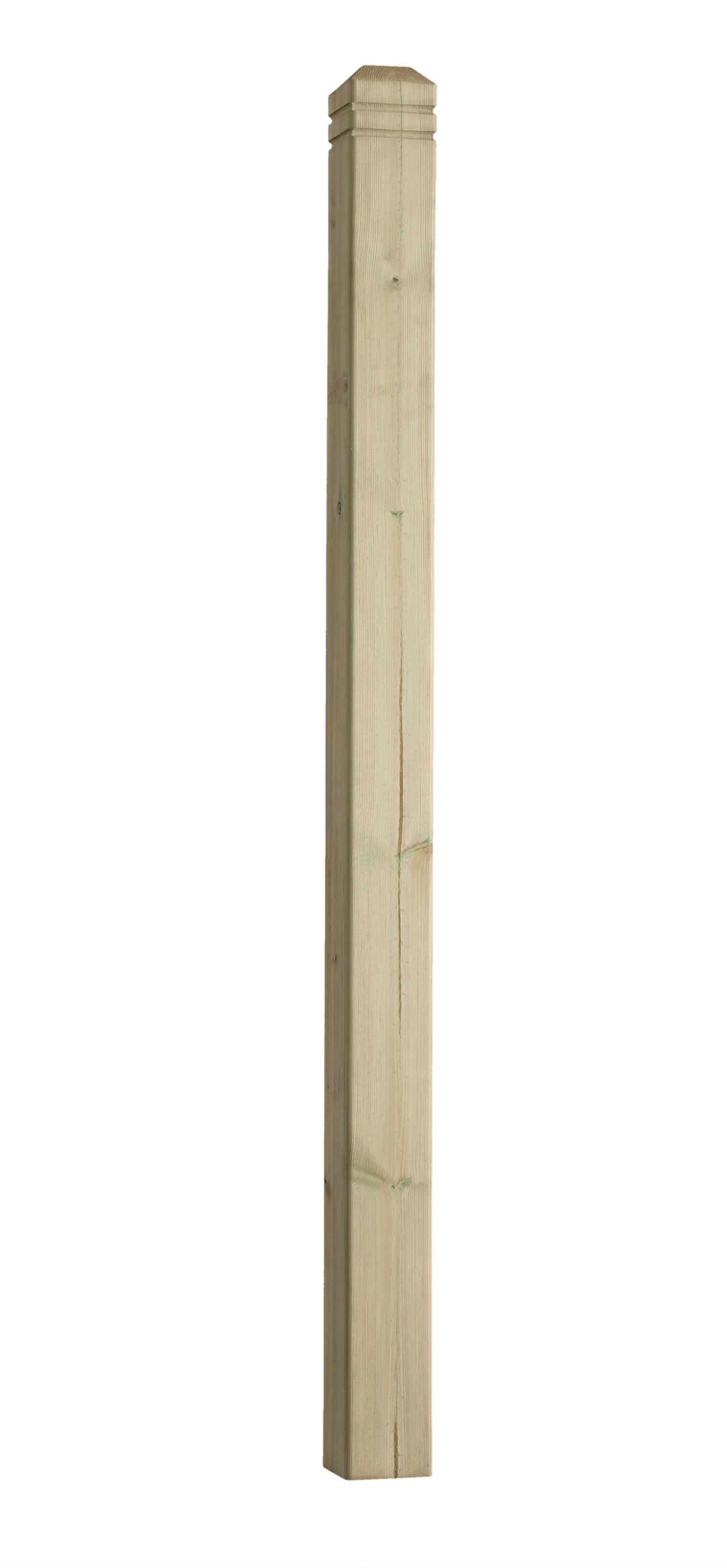 Treated Chamfer & Bead Square Deck Newel Post 82x82x1250mm - DEP12CB