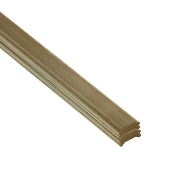 Treated Softwood Stacking Deck Handrail size: 27x61x1795mm - DHNEW1.8 Cheshire Mouldings