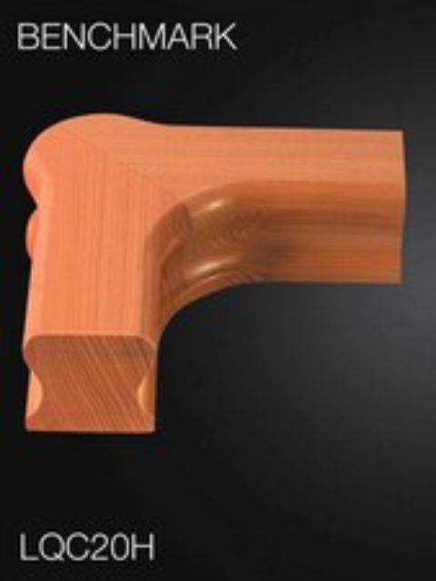 Hemlock Handrail Level Quarter Turn Cap - Cheshire Mouldings LQC20H