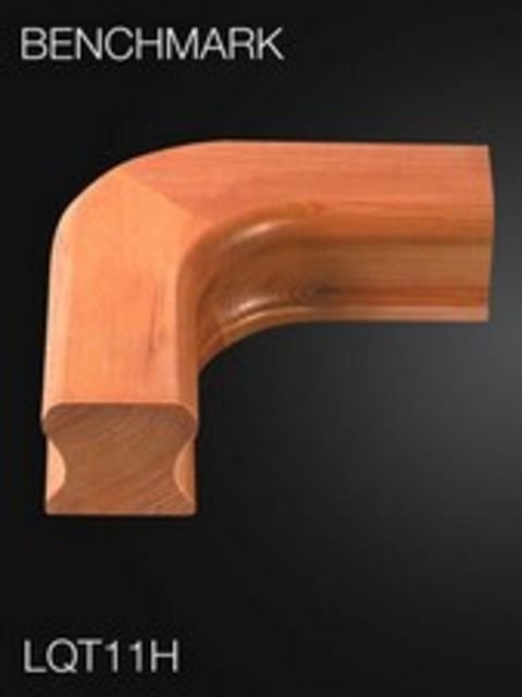 Hemlock Handrail Level Quarter Turn - Cheshire Mouldings LQT11H
