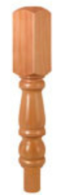 HEMLOCK NEWEL TURNING 615x91x91mm 202mm Head - CMN202H Cheshire Mouldings