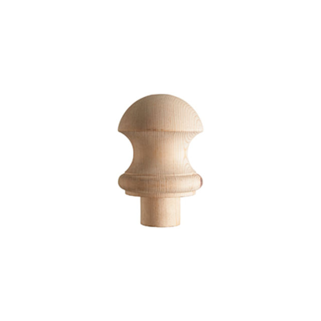 Pine Half Mushroom Newel Cap - CMC1PHALF Cheshire Mouldings