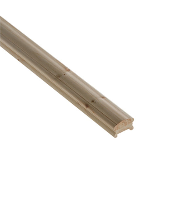 Pine Low Profile Handrail LHR41P Grooved 41mm 2.4M. or 4.2M. - Cheshire Mouldings®