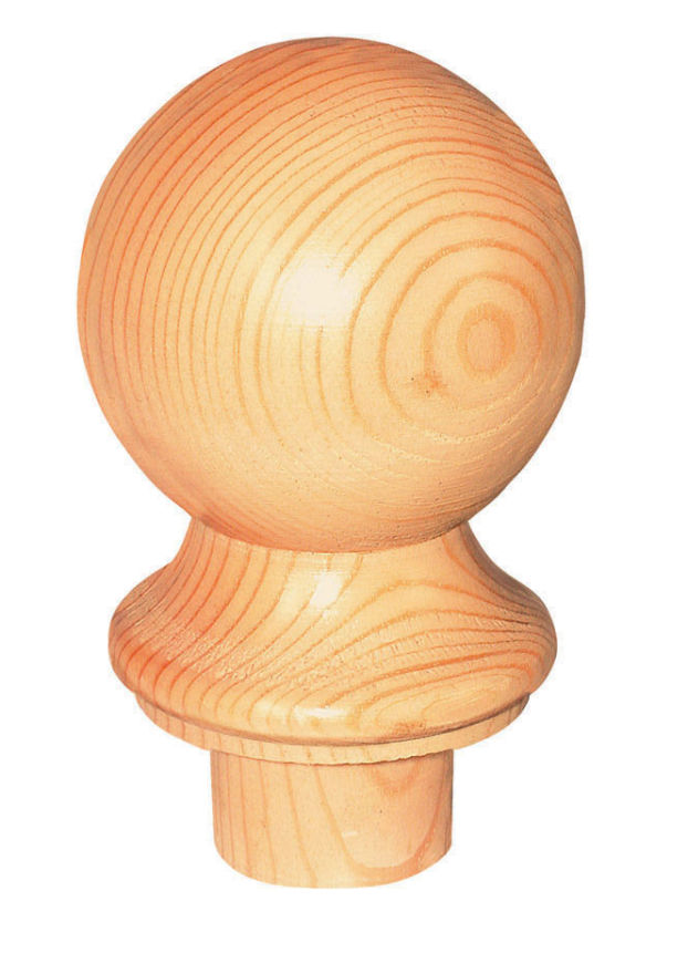 PINE BALL NEWEL CAP - CMC2P Cheshire Mouldings
