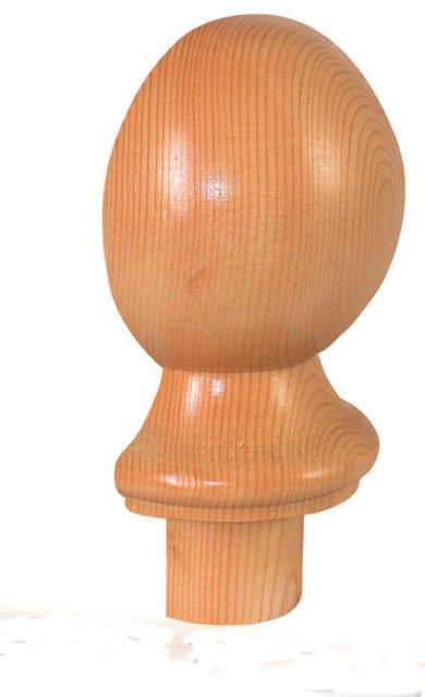 Pine Half Ball Newel Cap - CMC2PHALF Cheshire Mouldings