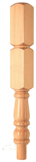 Pine Newel Turning 835x91x91mm 430mm Head - CMN430P Cheshire Mouldings