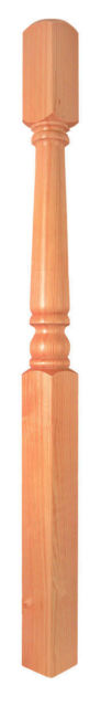 Pine 1500mm One Piece Newel - 91x91mm section - OP230P Cheshire Mouldings