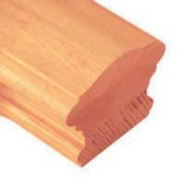 Warwick Pine Handrail - grooved 55mm - Cheshire Mouldings Stairparts
