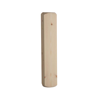 Warwick Pine Drop Newel Base 650x115x115mm - WDNB650P Cheshire Mouldings