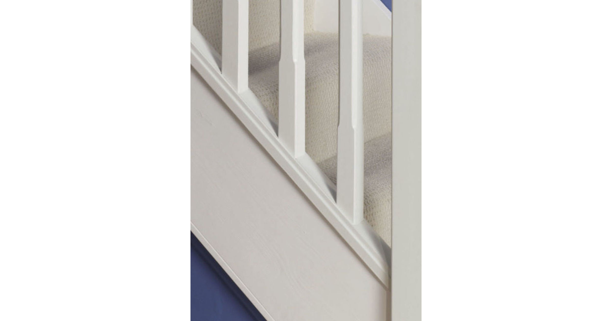 White Primed Baserail Grooved 32mm - Cheshire Mouldings