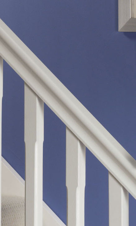 Stop Chamfered White Handrail