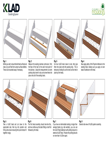 KLAD - Staircase Oak Cladding System Fitting Instructions