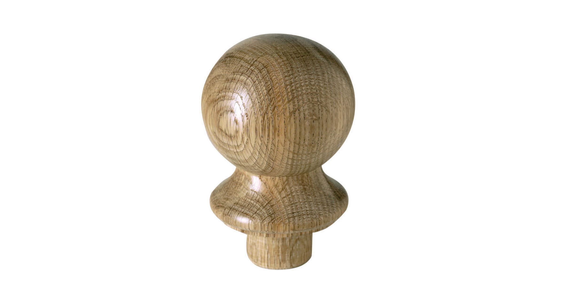 Oak Ball Newel Cap - CMC2O