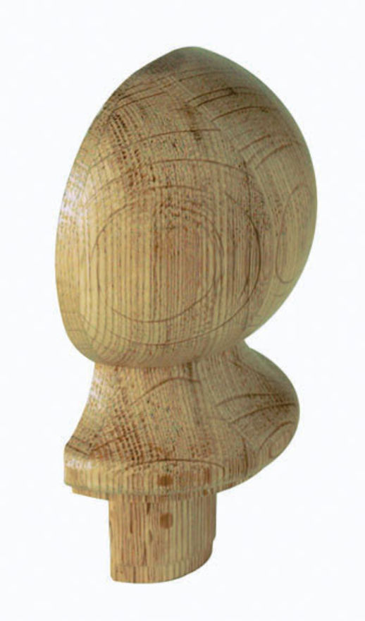 Oak Half Ball Newel Cap - CMC2OHALF Cheshire Mouldings