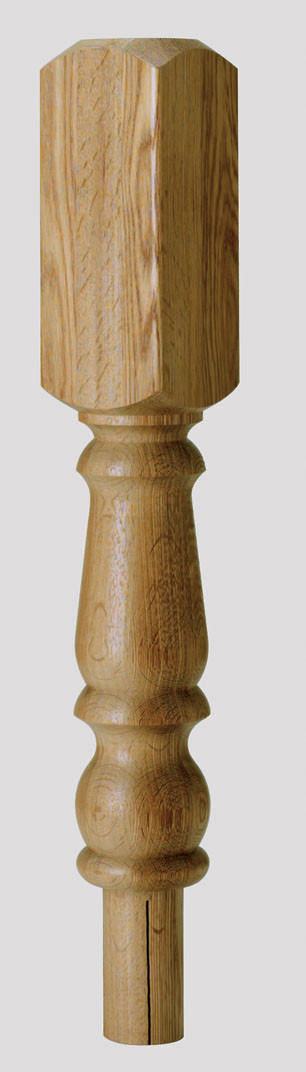 Oak Turned Newel 615x91x91mm 202mm Head - CMN202O Cheshire Mouldings
