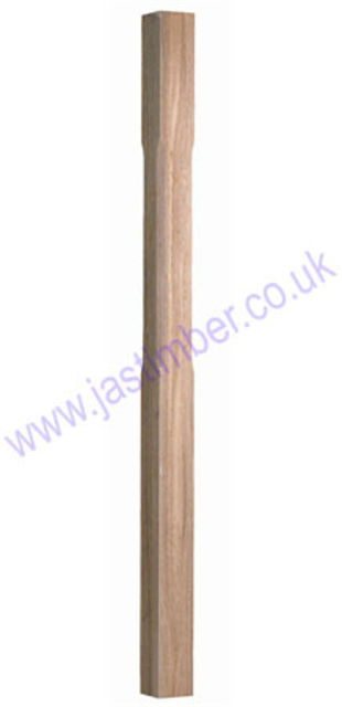 Oak Stop Chamfered Newel 1500x91x91mm - no cap - ST1500O Cheshire Mouldings®