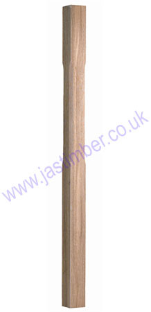 Cheshire Mouldings Benchmark Oak Stop Chamfered Newel - ST1500O