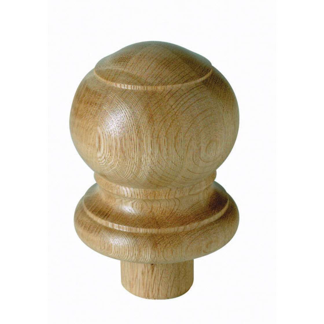 WARWICK HALF 115mm OAK BALL NEWEL CAP - WNC2OHALF Cheshire Mouldings