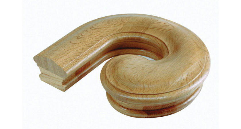 Warwick Oak Handrail LEFT HAND VOLUTE WVLHO