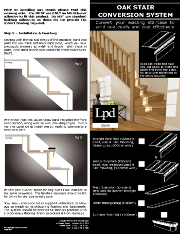 LPD Stair Cladding Installation Leaflet - JAS Timber