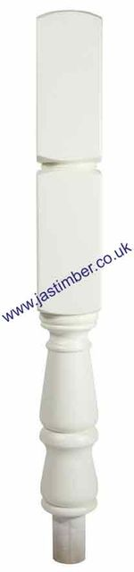 WHITE PRIMED NT415/90W 90mm NEWEL TURN - Richard Burbidge