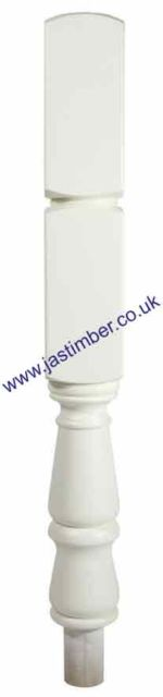 White Primed 415 Turned Newel - NT415/90W