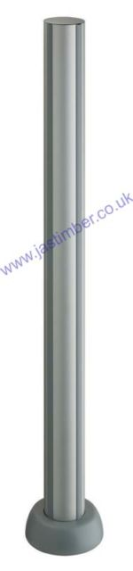 LD502 Fusion Aluminium Deck Newel Post - Richard Burbidge