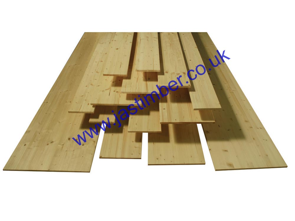 250mm Whitewood PINE Jointed Board (fin: 249x18mm) - RICHARD BURBIDGE