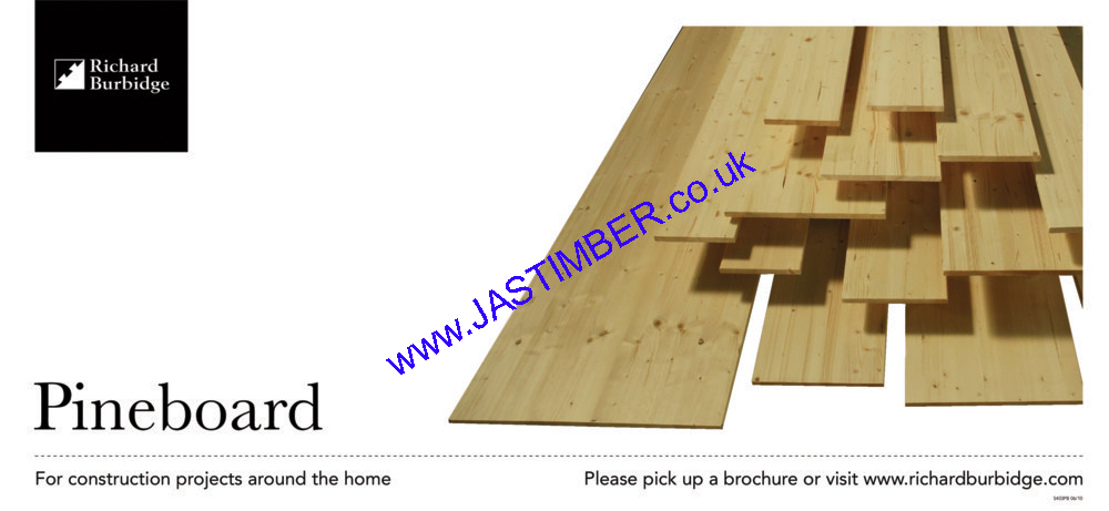 200mm Whitewood PINE Jointed Board (fin: 199x18mm) - RICHARD BURBIDGE