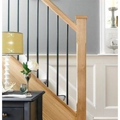 Elements Staircase with Plain Black Spindles