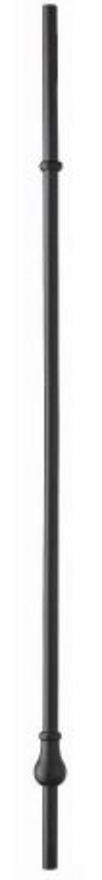 ELEMENTS® MB02 HYBRID SINGLE LANDING & RAKE BALUSTER - BLACK Finish - Richard Burbidge (Pack of 3)