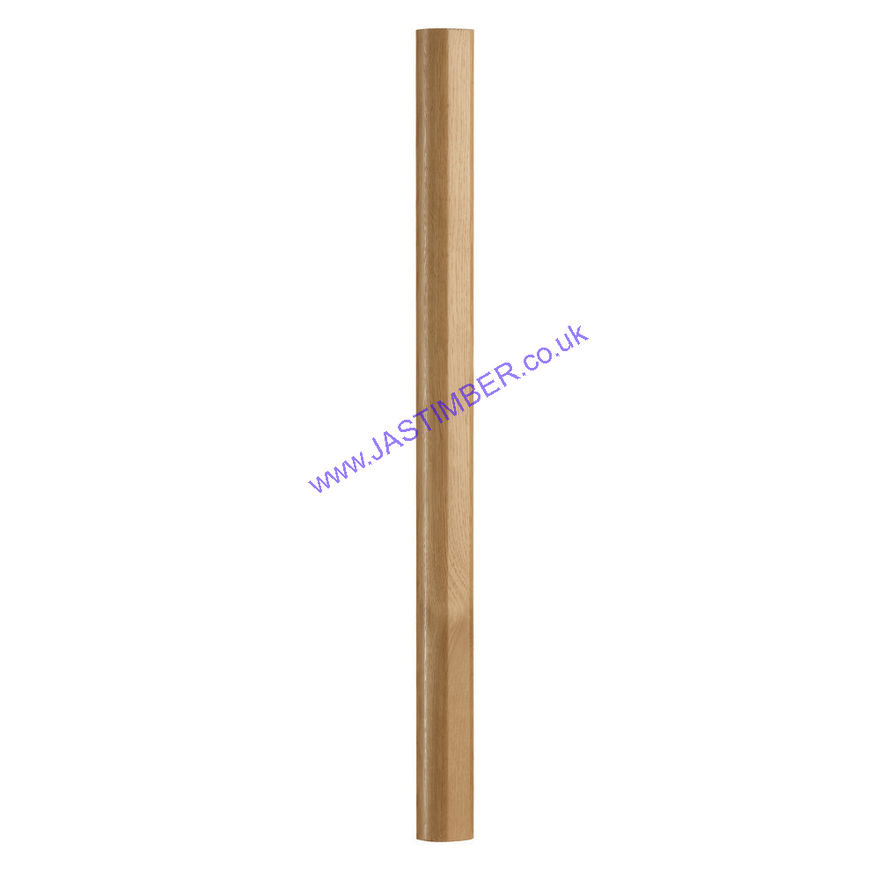 Fusion Stairparts White Oak Newel Post - RHR7