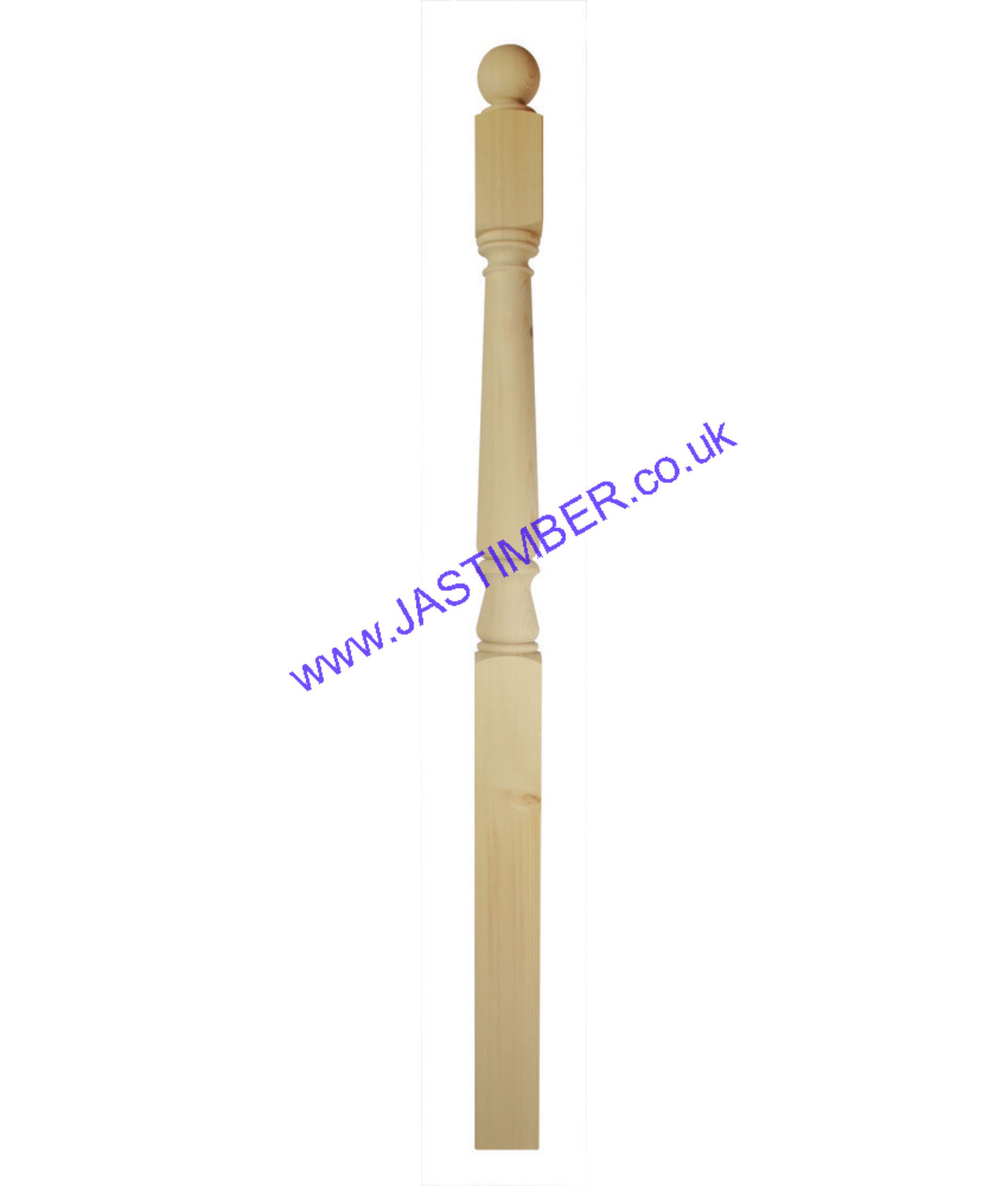 Hallmark 82mm Complete Newel Post - CNP1520P