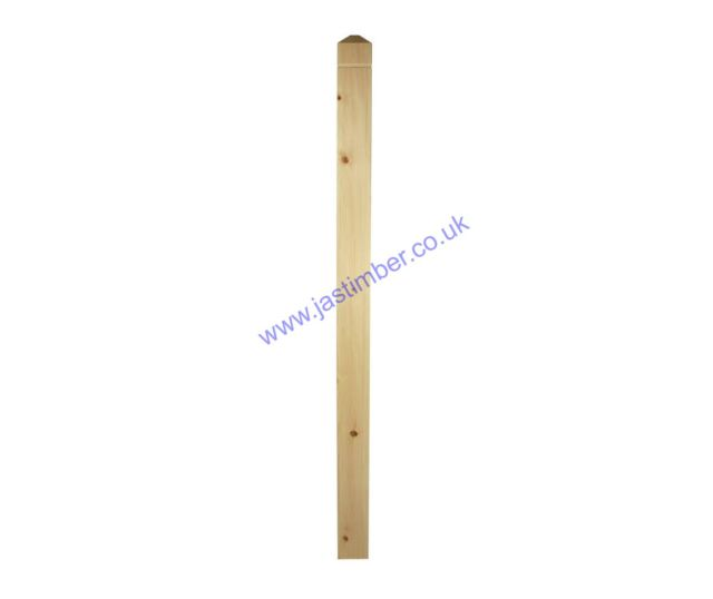 Trademark NP1 Pine Square Newel Post - 1335x82x82mm - Richard Burbidge