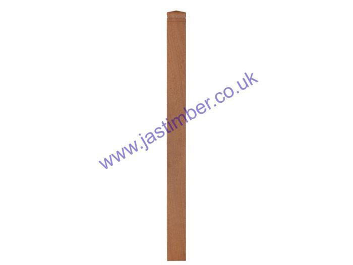 LD760 Hardwood 90mm Square Decking Newel