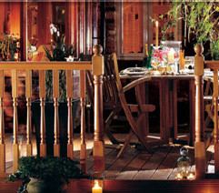 Richard Burbidge Hardwood Decking - turned set
