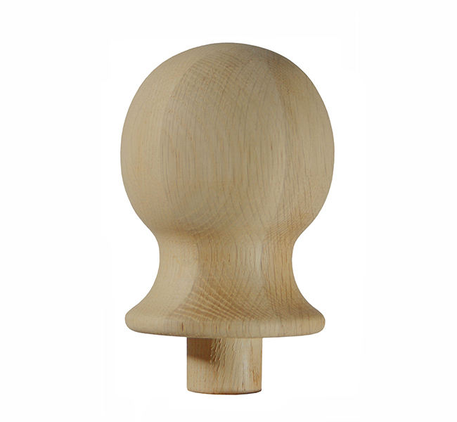 Heritage White Oak Ball Newel Cap - OSNC1