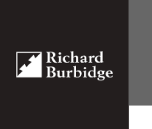 Richard Burbidge - Black / White Dovetail logo