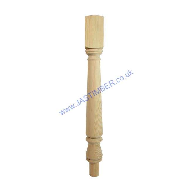 Trademark NT160/90P Pine 90mm Newel Turn - Richard Burbidge